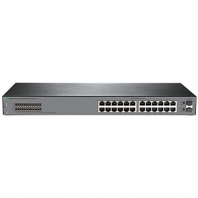 картинка HPE JL381A#ABB Коммутатор 1920S 24G 2SFP (24x10/100/1000 RJ-45 + 2xSFP, Web-managed, static routing, fanless, 19') (repl. for JG923A,JG924A) от магазина Вилан